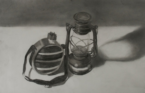 still-life-of-canteen-and-lantern