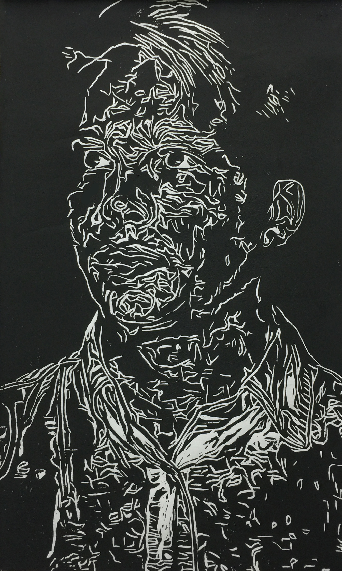 Nolan Lineoleum Print